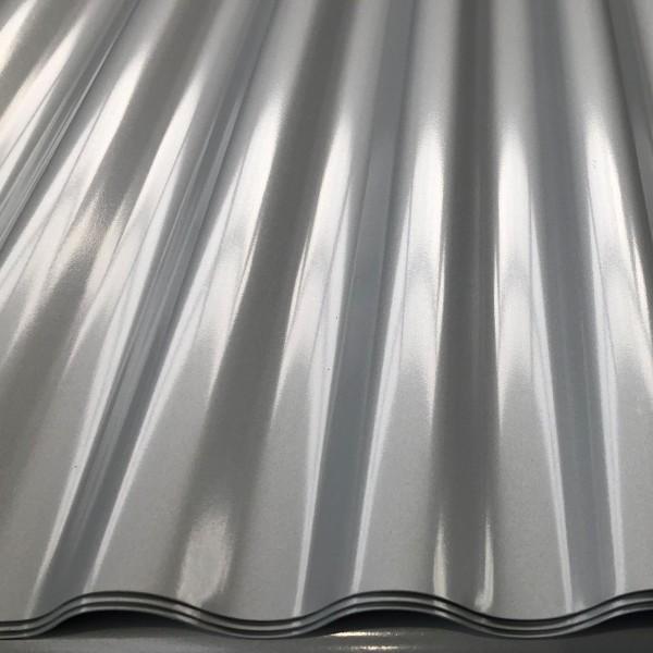Alu-Welle 18/76/0,7 mm, RAL 9006 (Lagerlängen)